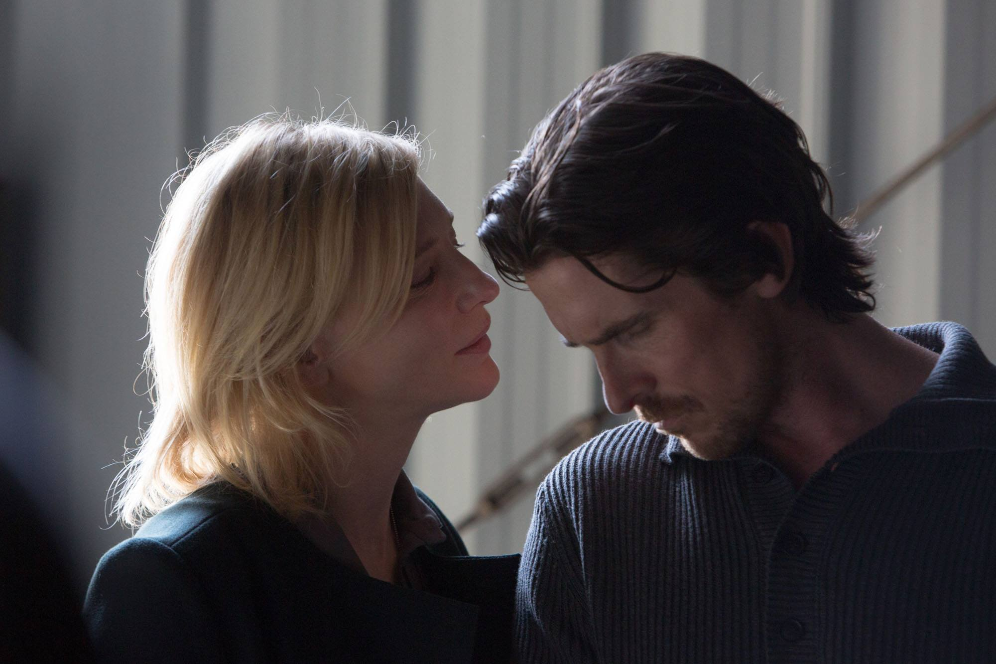 Christian Bale and Cate Blanchett in Knight of Cups